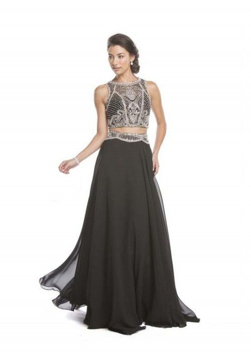 Beaded Two Piece Gown