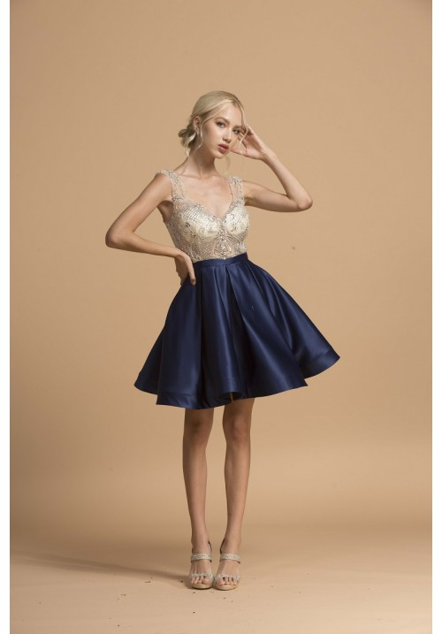 Sophisticated Satin Short Dress