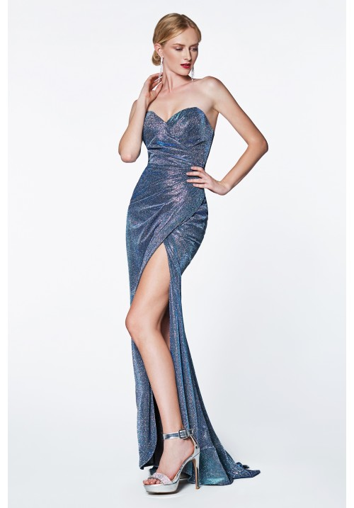 Strapless wrap sparkle dress