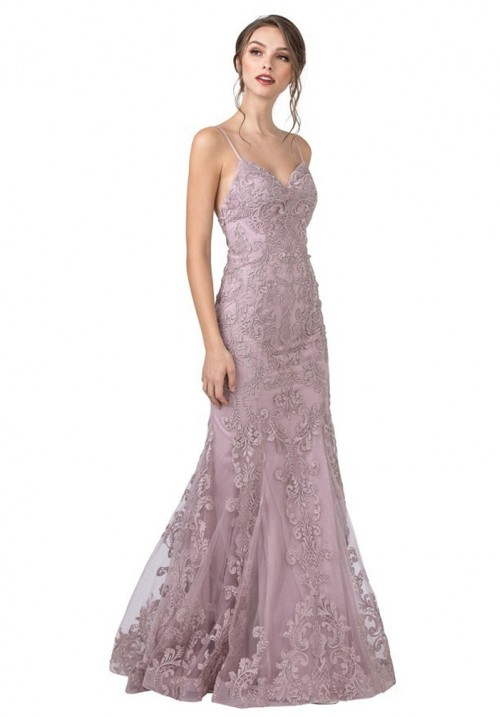 Lace Embellished Long Gown