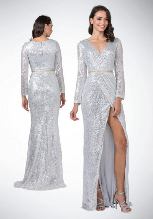 Long Sleeve Long Gown L2397