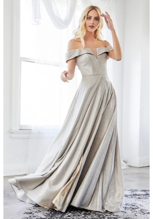 Off Shoulder Long Gown