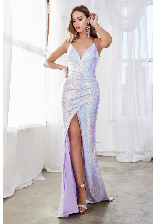 Sequin Embellished Long Gown