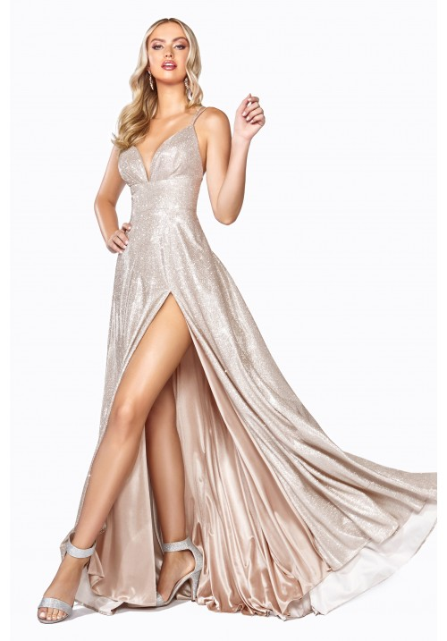 A-Line Slit Long Gown