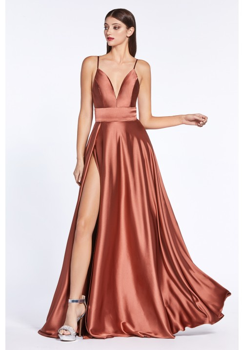 Satin Long Gown