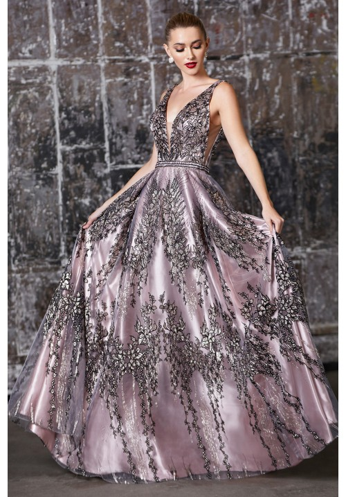 Embellished Design Long Gown