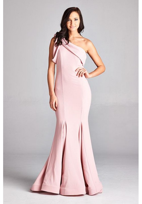One Shoulder Trumpet Long Dress