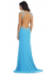 Beaded Gown with Side Slits