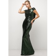 Sequined Bluffed Back Gown