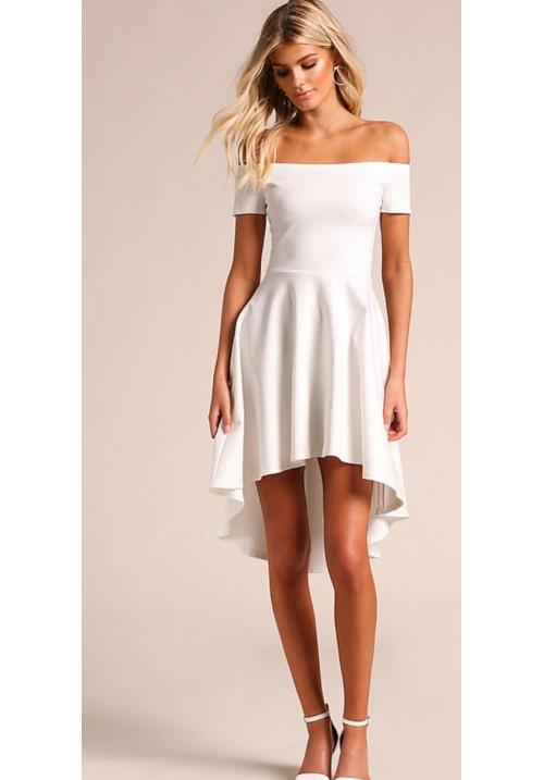 Off Shoulder High Low Dress
