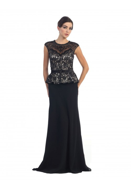 Peplum Long Gown