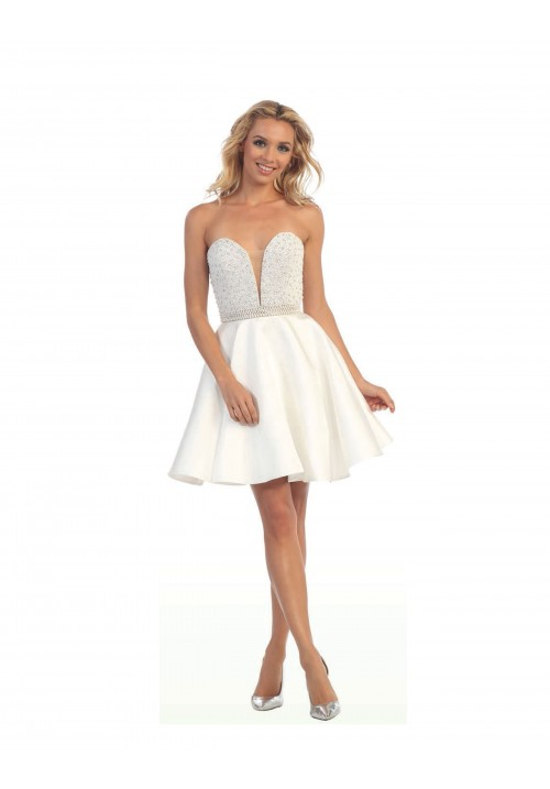 Short Sweetheart Gown