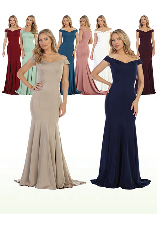 Off Shoulder Bridesmaids Gown