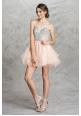 Shimmering Sequins Beaded Short Dress