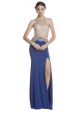 Halter Gown with Leg Slit