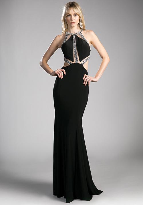 Halter Embellished Gown