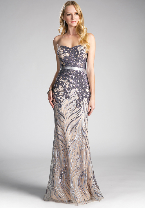 Embellished Tube Gown