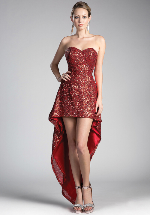 Sparkly Tube High & Low Gown
