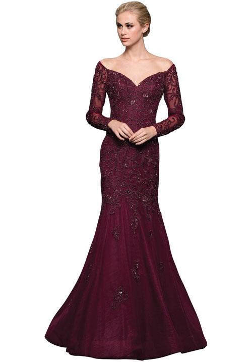 Sweet Heart Long Side Trumphet Gown